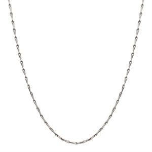 """Picture of Silver Elongated Cable Chain - 28"""""""